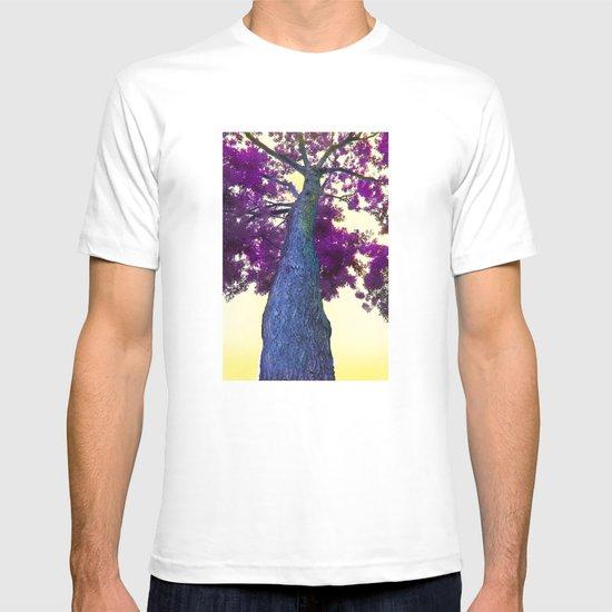 blue tree T-shirt