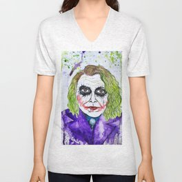 The Joker Watercolor Unisex V-Neck