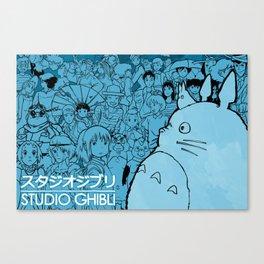 Celebrating Ghibli (fan art) Canvas Print