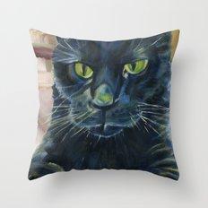Totoro the cat Throw Pillow