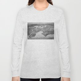 Vintage Pictorial Map of Seattle (1908) Long Sleeve T-shirt