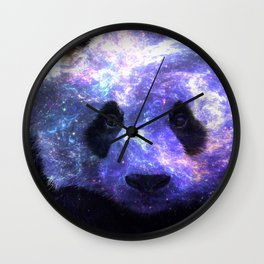 Galaxy Panda Space Colorful Wall Clock