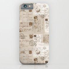 Old Letters vintage collage iPhone 6s Slim Case