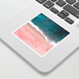 Turquoise Sea Pastel Beach III Sticker