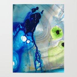 Blue Abstract Modern Art - Reborn - Sharon Cummings Poster