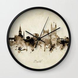 Bath England Skyline Wall Clock