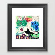 Natures Confetti Cat  Framed Art Print