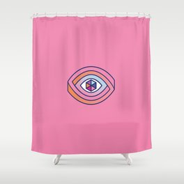 The eye of multiple perspectives Shower Curtain