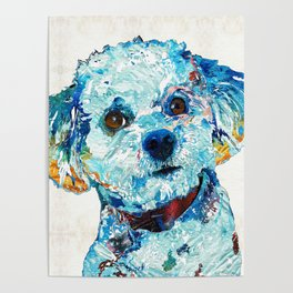 Small Dog Art - Who Me - Sharon Cummings Poster