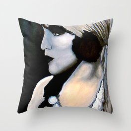 Gypsy Woman Throw Pillow
