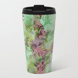 Seamless Pattern of Tropical Leaves II Travel Mug