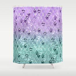Mermaid Princess Glitter Scales #3 #shiny #pastel #decor #art #society6 Shower Curtain