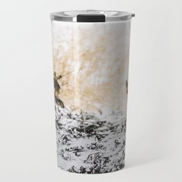 Fox in the snow Travel Mug