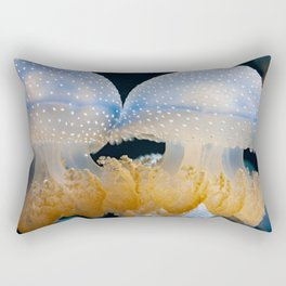 Double Blue Jellyfish - Underwater Photography Rectangular Pillow