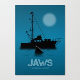 Jaws - Alternative Movie Poster Canvas Print