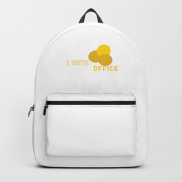 I Gave Gold Coin At The Office Retired Veterans Retirees Retirement Gift Backpack