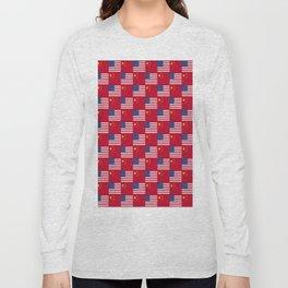 Mix of flag: usa and China Long Sleeve T-shirt