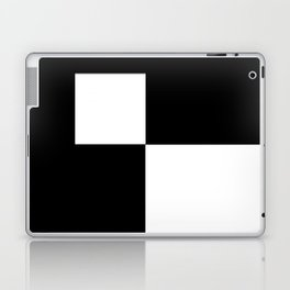 Black and White Color Block #2 Laptop & iPad Skin
