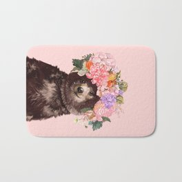 Baby Bear with Flowers Crown Bath Mat