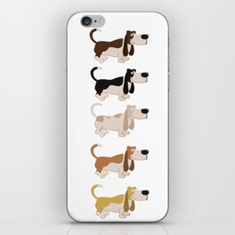 Basset Hound Colors Illustration iPhone Skin