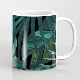 Tropical Jungle Night Leaves Pattern #1 #tropical #decor #art #society6 Coffee Mug