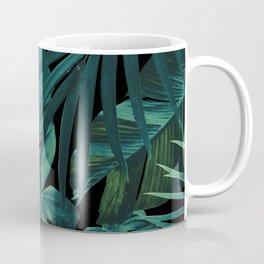 Tropical Jungle Night Leaves Pattern #1 #tropical #decor #art #society6 Coffee Mug