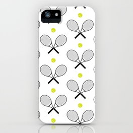 Tennis Pattern 2 iPhone Case