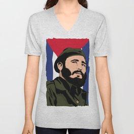Y en eso llego Fidel Unisex V-Neck