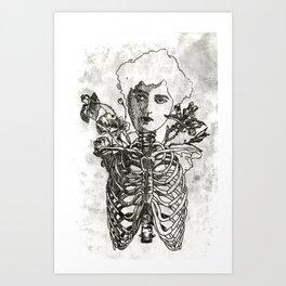 Rib cage Art Print