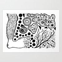 Footvomit Art Print