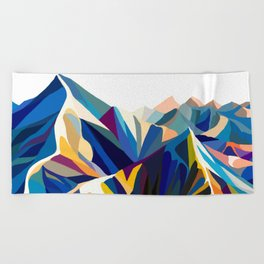 Mountains cold Beach Towel