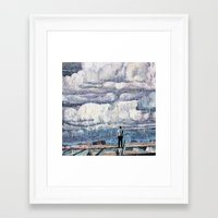 depression Framed Art Prints featuring Depression by Rothko