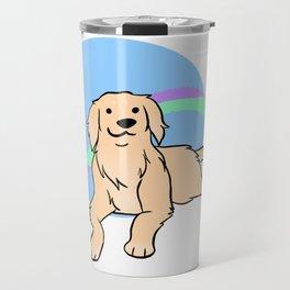 Cream Golden Retriever Travel Mug