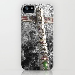 Totem Pole, Oregon, tribal art iPhone Case