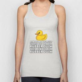 Rubber duck Squeak duck Bath duck Duck Unisex Tank Top