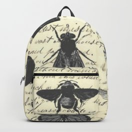 Insect Study on antique journal paper Backpack