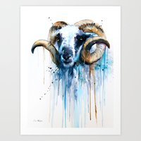 sheep Art Prints featuring Sheep by Slaveika Aladjova