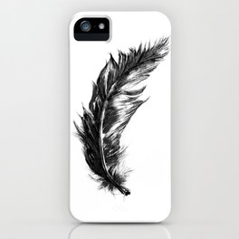 Feather- B&W // Illustration iPhone Case