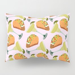 Tacos y Margaritas Pattern Pillow Sham