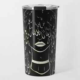 Melting Hair Space Girl Travel Mug