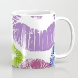 Colorful Lipstick Kisses Lip Color Coffee Mug