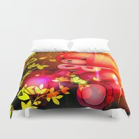 "arnold Duvet Covers featuring ""Arnold"" by shiva camille"