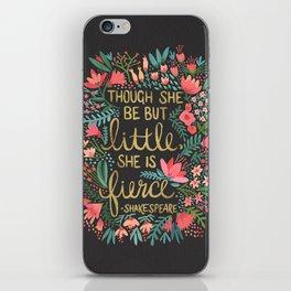 Little & Fierce on Charcoal iPhone Skin