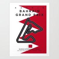 My F1 BAHRAIN Race Track Minimal Poster Art Print