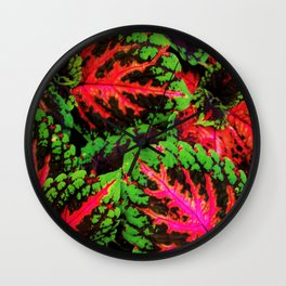 Tropical Conflilction Wall Clock