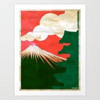 japan Art Prints featuring japan by barmalisiRTB