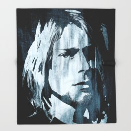Kurt# Cobain#Nirvana Throw Blanket