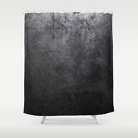 concrete Shower Curtains featuring CONCRETE by Danielle Fedorshik