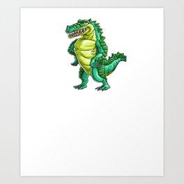 Gators Gonna Gater Alligator Reptile Animal Art Print
