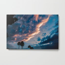 Night Begins To Fall Metal Print
